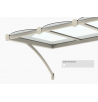 Marquise moderne CLASSIC – Blanc Brillant RAL 9010