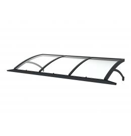 Marquise EMPIRE en verre et aluminium – Auvent rectangulaire pour maison – Marquise moderne et design